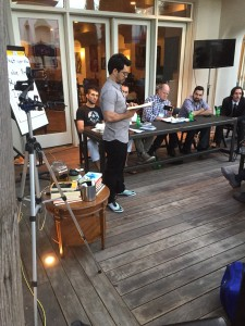 Tai Lopez tripod with multiple camera mounts for live streaming